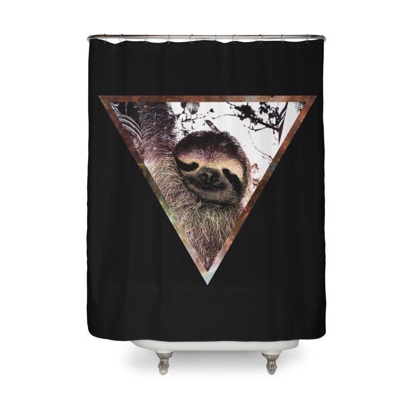 Galactic Sloth Home Shower Curtain by radesigns's Artist Shop