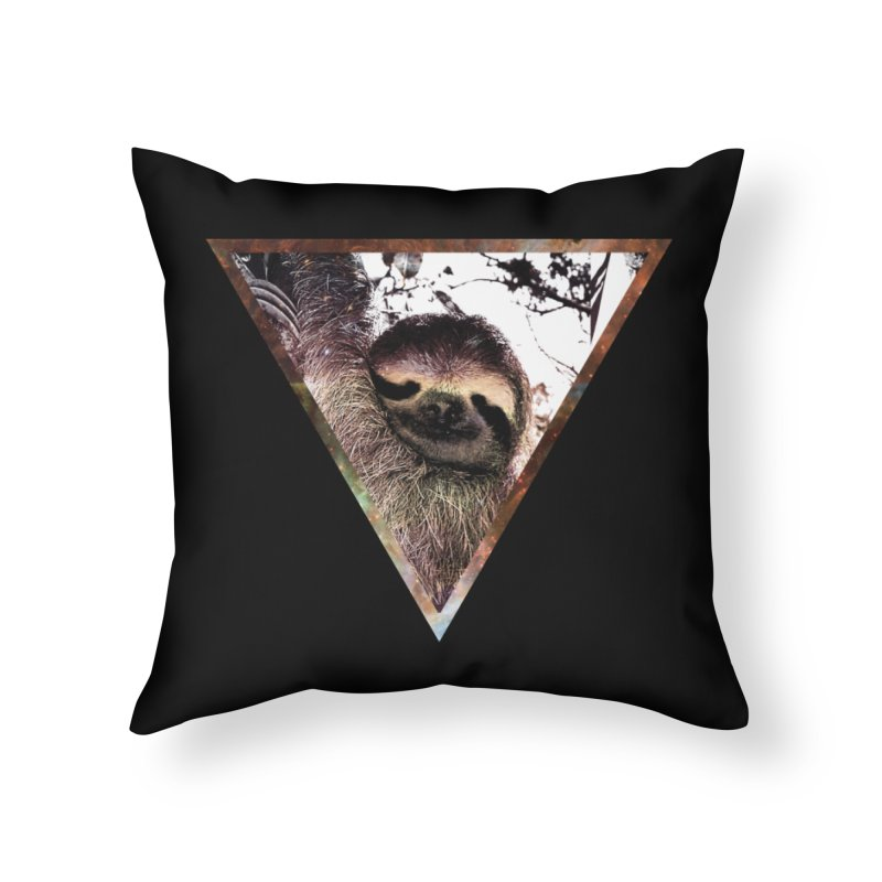 Galactic Sloth Home Throw Pillow by radesigns's Artist Shop