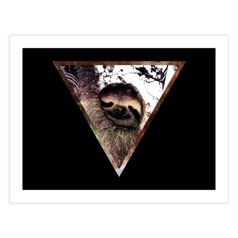 Galactic Sloth Home Fine Art Print by radesigns's Artist Shop