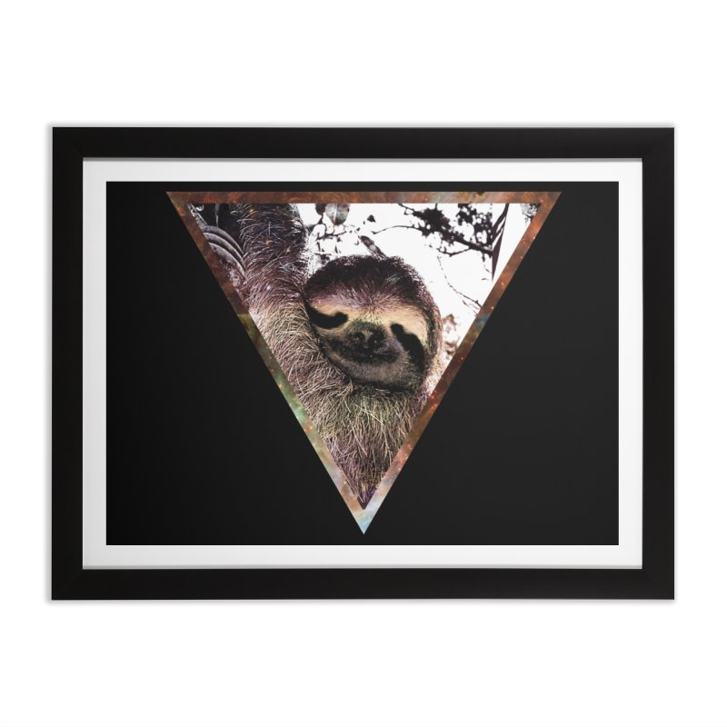 Galactic Sloth Home Framed Fine Art Print by radesigns's Artist Shop