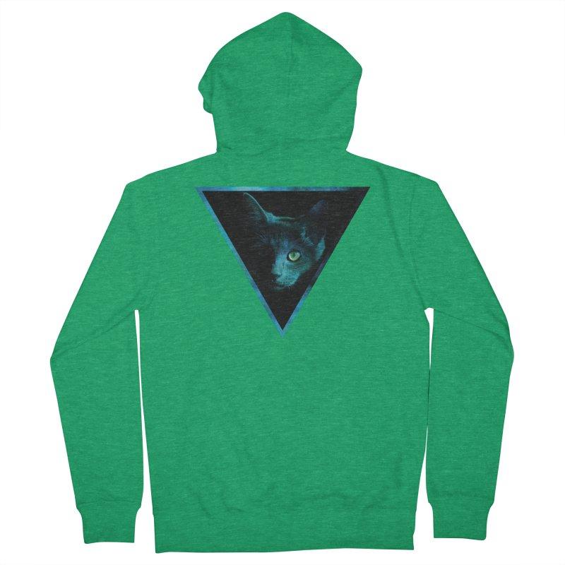 Cosmic Triangle Cat Women's Zip-Up Hoody by radesigns's Artist Shop