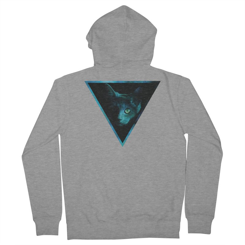 Cosmic Triangle Cat Men's Zip-Up Hoody by radesigns's Artist Shop