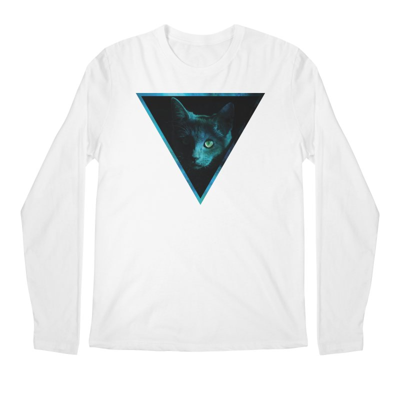 Cosmic Triangle Cat Men's Longsleeve T-Shirt by radesigns's Artist Shop