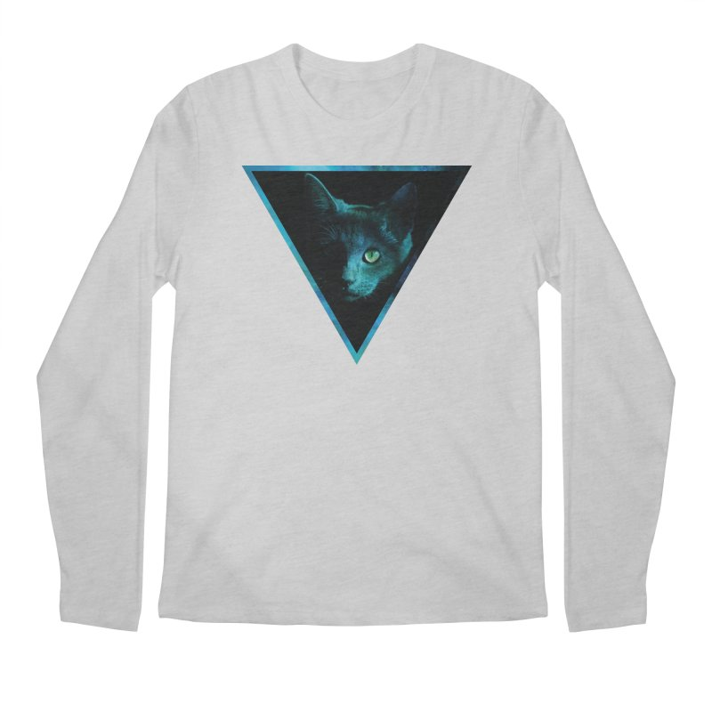 Cosmic Triangle Cat Men's Longsleeve T-Shirt by radesigns's Artist Shop