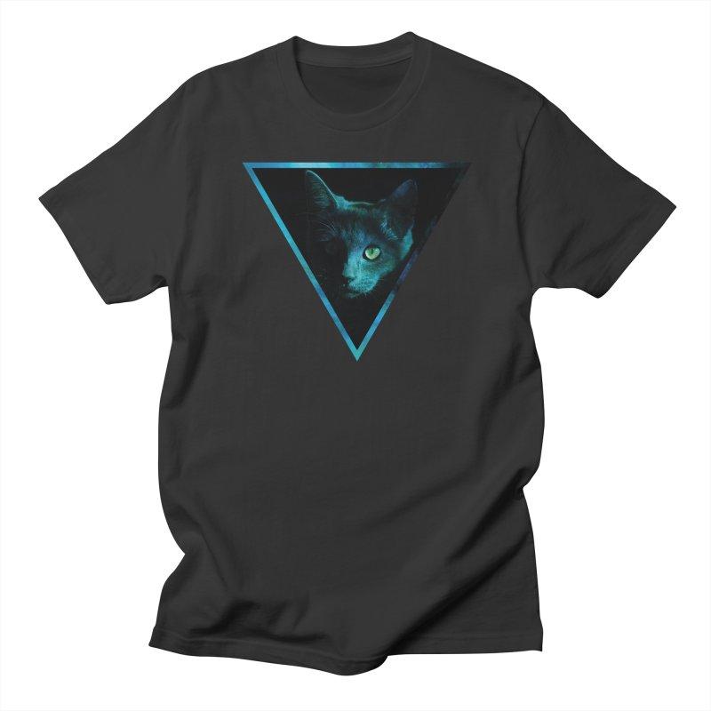 Cosmic Triangle Cat Men's T-Shirt by radesigns's Artist Shop