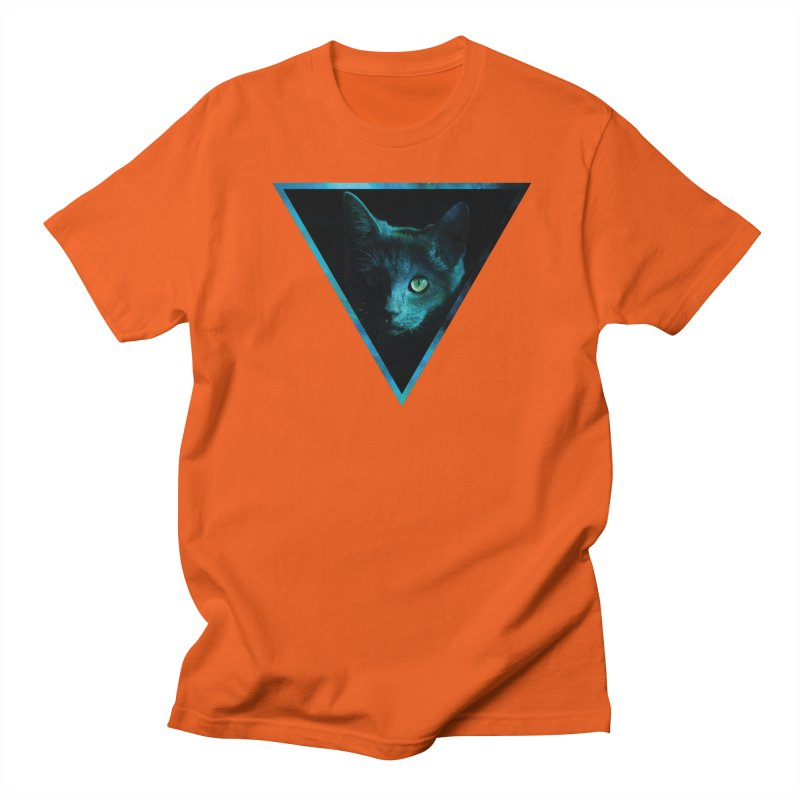 Cosmic Triangle Cat Men's T-Shirt by radesigns's Artist Shop