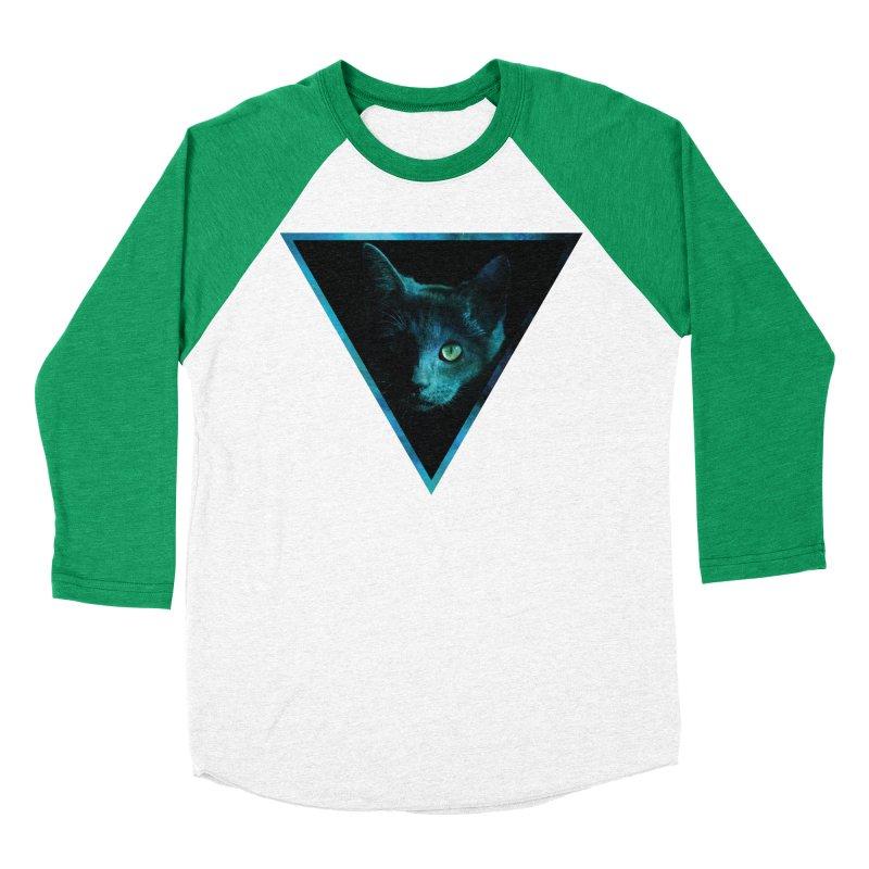 Cosmic Triangle Cat Women's Baseball Triblend T-Shirt by radesigns's Artist Shop