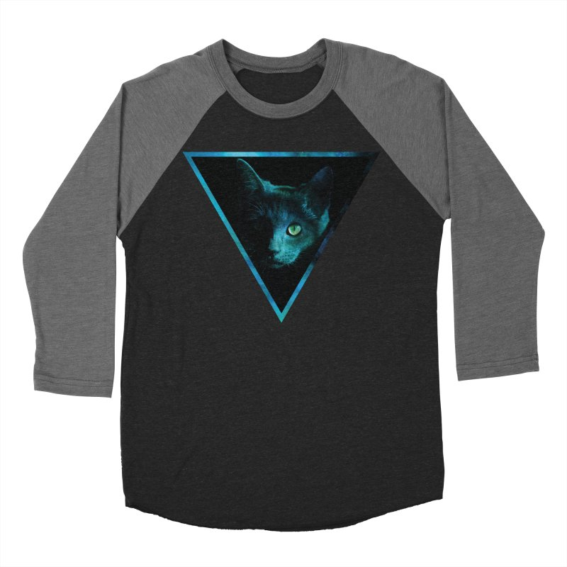 Cosmic Triangle Cat Men's Baseball Triblend T-Shirt by radesigns's Artist Shop