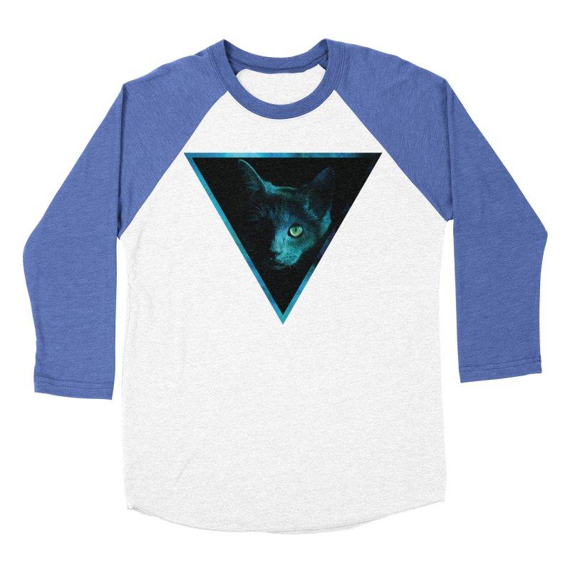 Cosmic Triangle Cat Men's Baseball Triblend T-Shirt by radesigns's Artist Shop