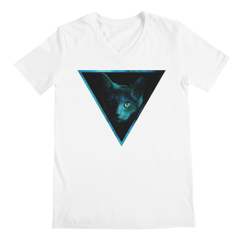Cosmic Triangle Cat Men's V-Neck by radesigns's Artist Shop