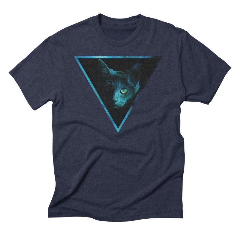 Cosmic Triangle Cat Men's Triblend T-shirt by radesigns's Artist Shop