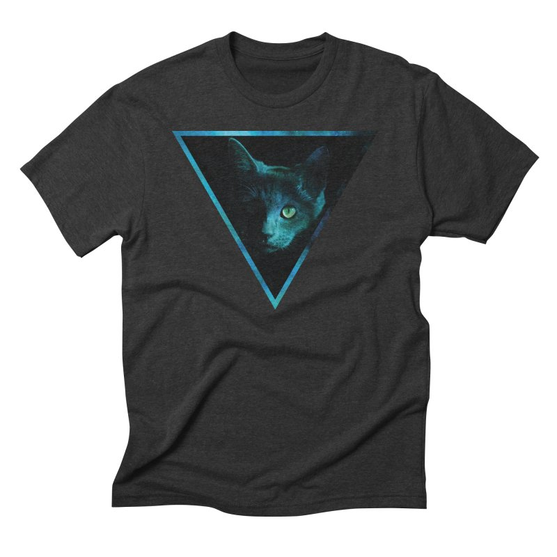 Cosmic Triangle Cat Men's Triblend T-shirt by radesigns's Artist Shop