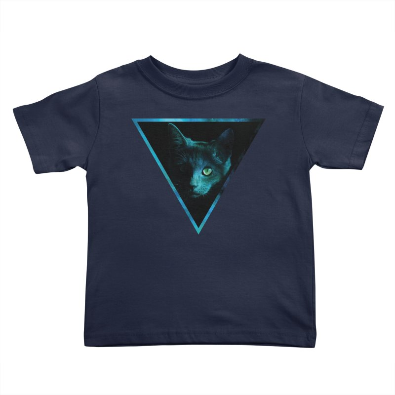 Cosmic Triangle Cat Kids Toddler T-Shirt by radesigns's Artist Shop