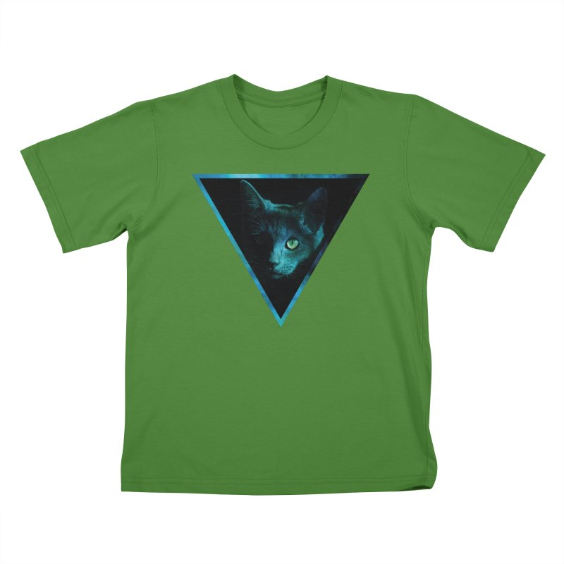 Cosmic Triangle Cat Kids T-shirt by radesigns's Artist Shop