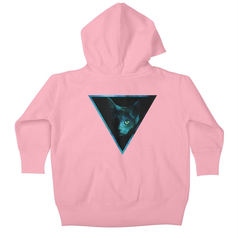 Cosmic Triangle Cat Kids Baby Zip-Up Hoody by radesigns's Artist Shop