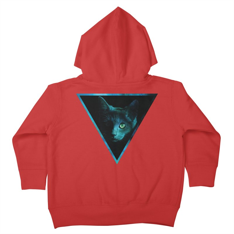 Cosmic Triangle Cat Kids Toddler Zip-Up Hoody by radesigns's Artist Shop