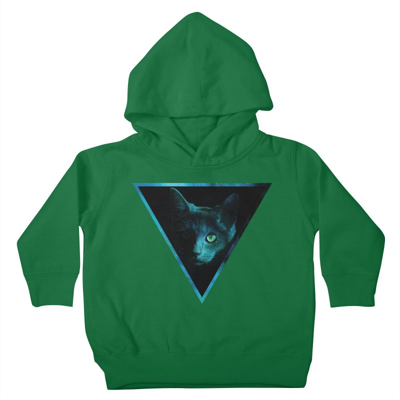 Cosmic Triangle Cat Kids Toddler Pullover Hoody by radesigns's Artist Shop