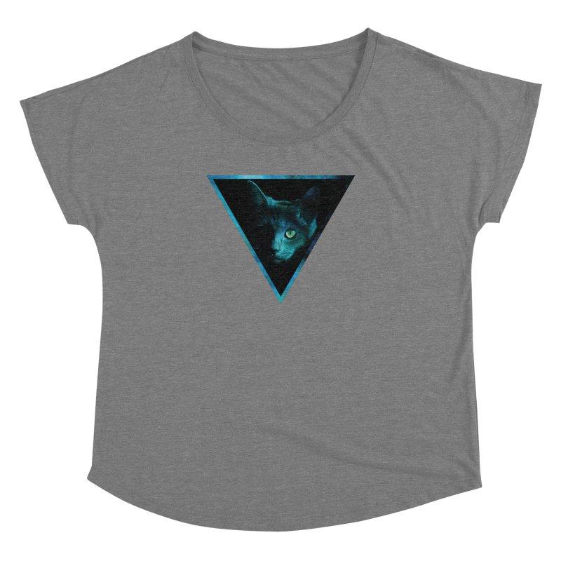 Cosmic Triangle Cat Women's Dolman by radesigns's Artist Shop