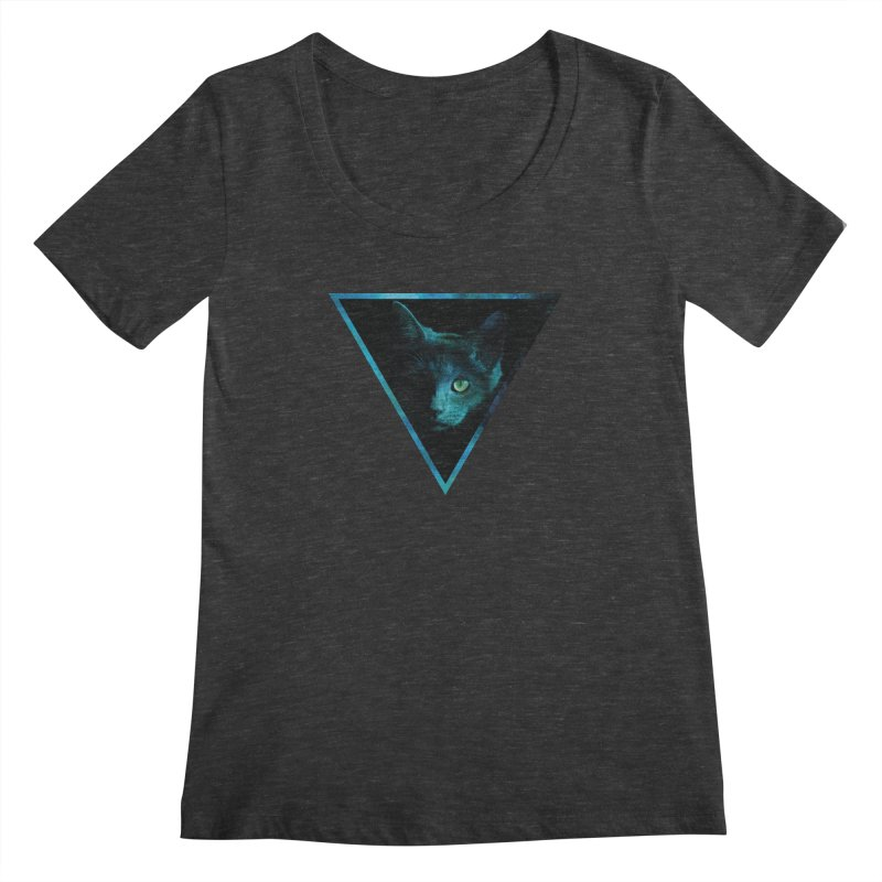 Cosmic Triangle Cat Women's Scoopneck by radesigns's Artist Shop