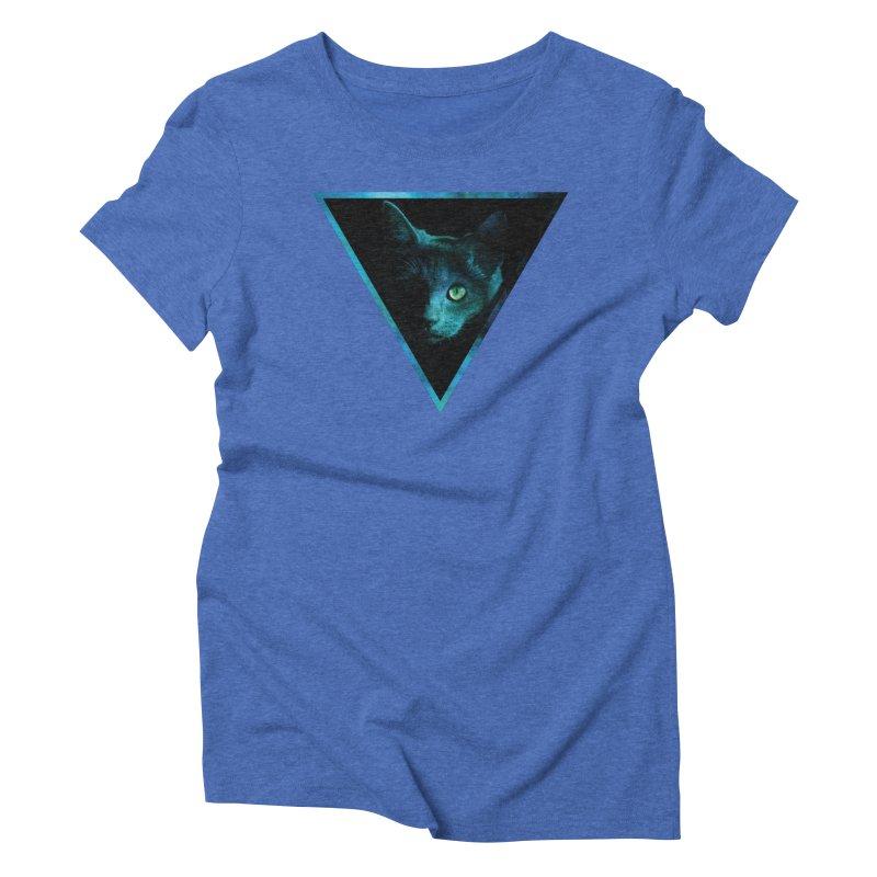 Cosmic Triangle Cat Women's Triblend T-shirt by radesigns's Artist Shop