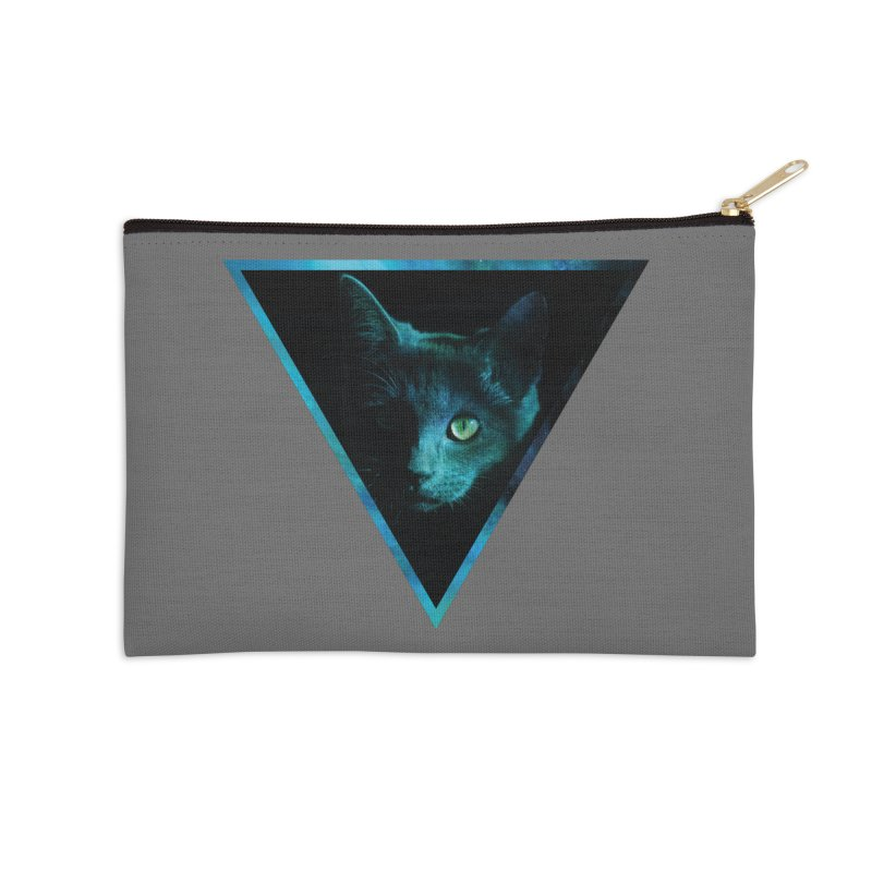 Cosmic Triangle Cat Accessories Zip Pouch by radesigns's Artist Shop