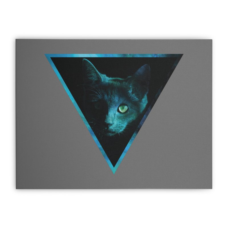 Cosmic Triangle Cat Home Stretched Canvas by radesigns's Artist Shop