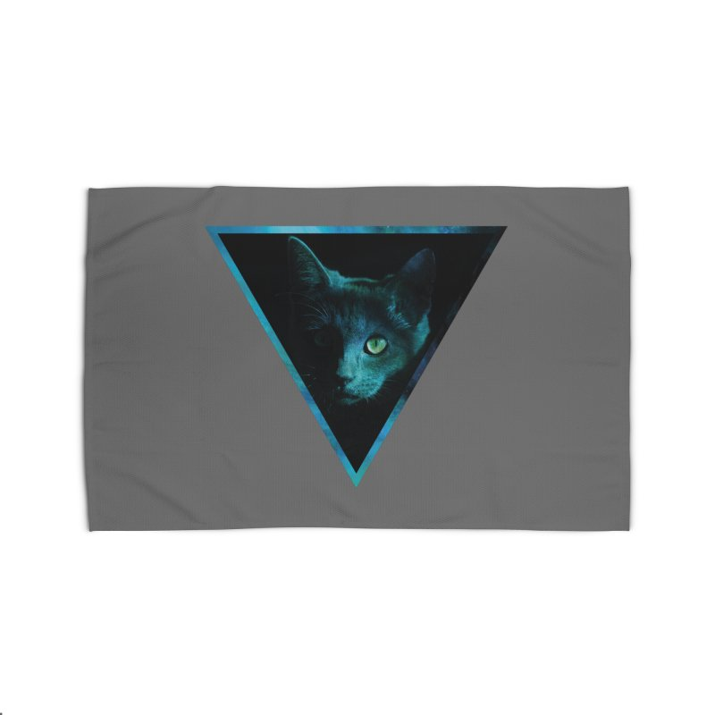 Cosmic Triangle Cat Home Rug by radesigns's Artist Shop