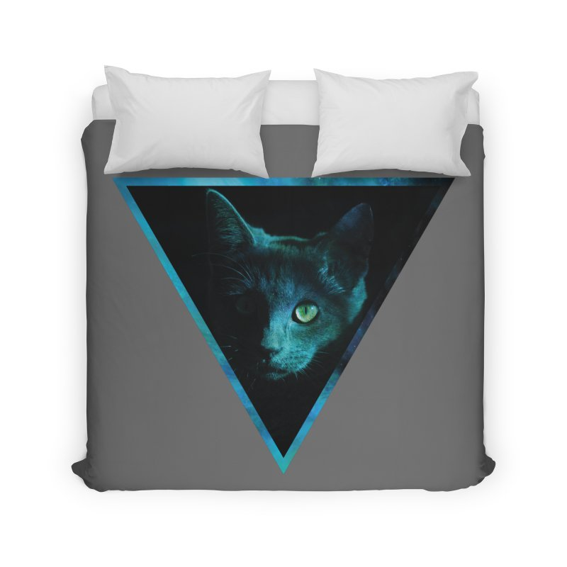 Cosmic Triangle Cat Home Duvet by radesigns's Artist Shop