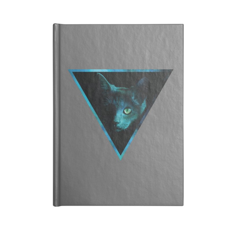 Cosmic Triangle Cat Accessories Notebook by radesigns's Artist Shop