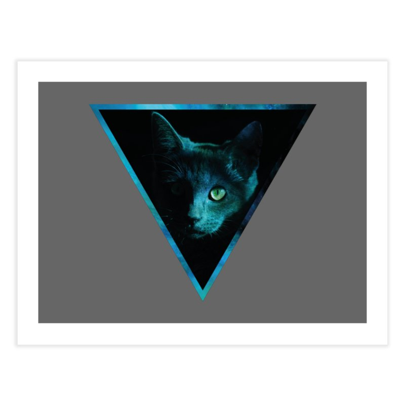 Cosmic Triangle Cat Home Fine Art Print by radesigns's Artist Shop