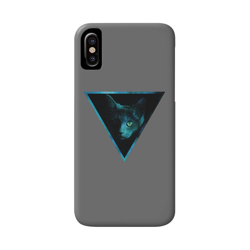 Cosmic Triangle Cat Accessories Phone Case by radesigns's Artist Shop