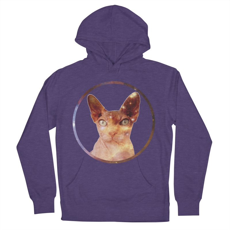 Cosmic Circle Sphynx Cat  Women's Pullover Hoody by radesigns's Artist Shop