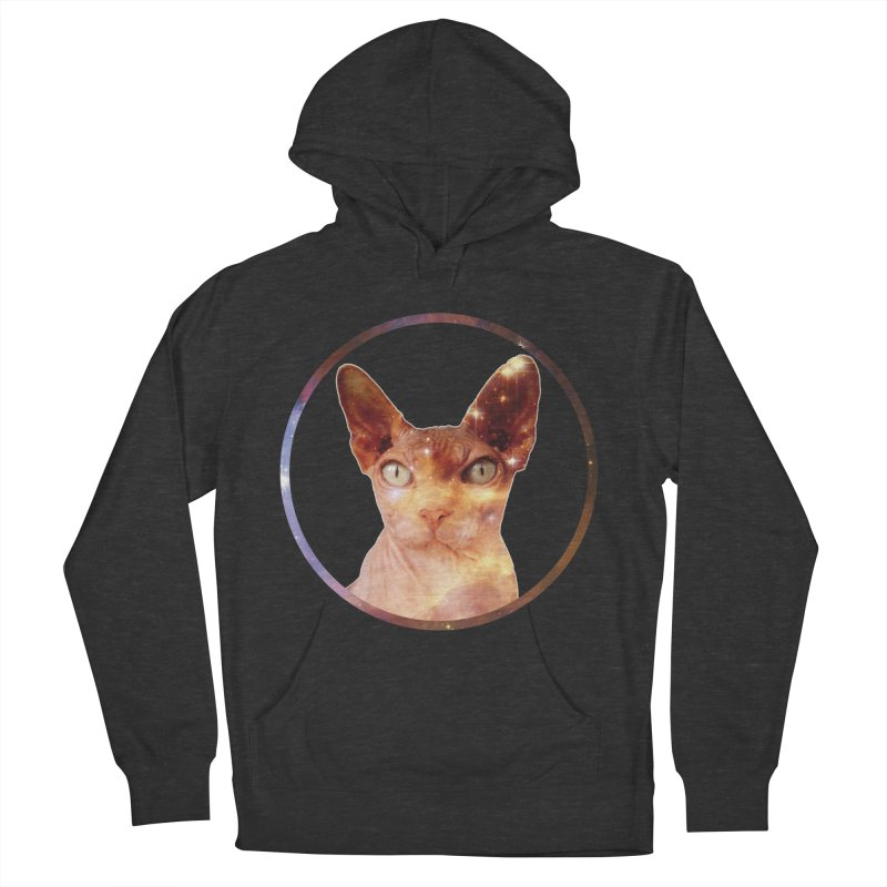 Cosmic Circle Sphynx Cat  Men's Pullover Hoody by radesigns's Artist Shop