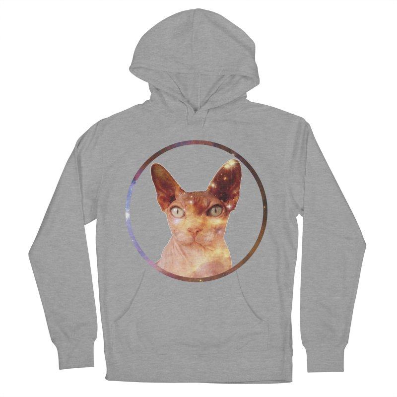 Cosmic Circle Sphynx Cat  Men's Pullover Hoody by radesigns's Artist Shop