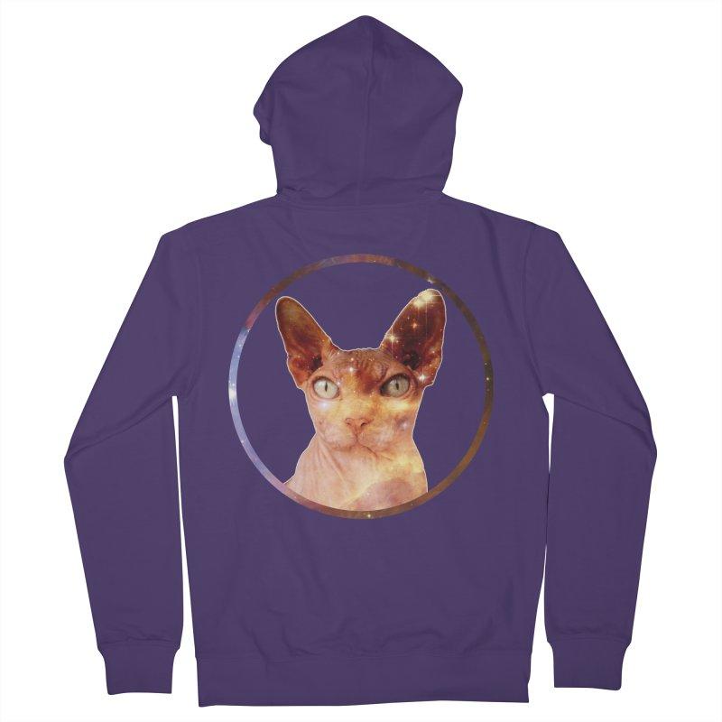 Cosmic Circle Sphynx Cat  Women's Zip-Up Hoody by radesigns's Artist Shop