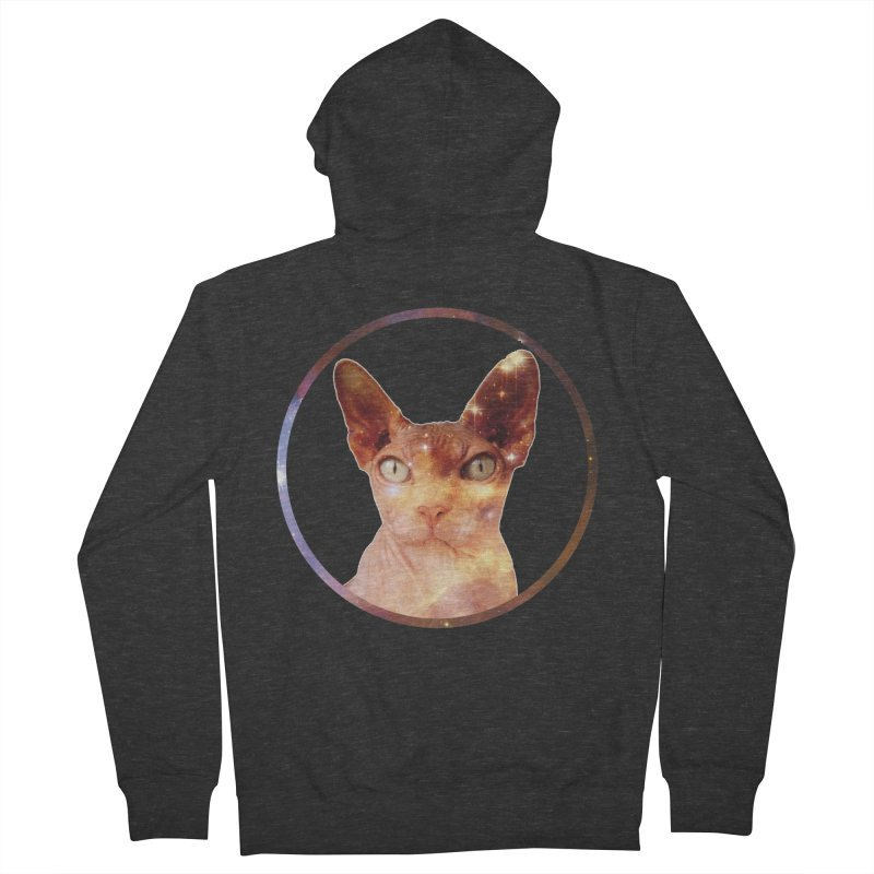 Cosmic Circle Sphynx Cat  Men's Zip-Up Hoody by radesigns's Artist Shop