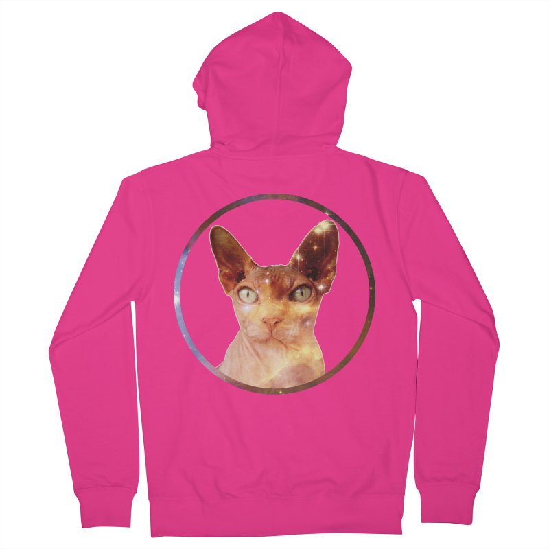 Cosmic Circle Sphynx Cat  Men's Zip-Up Hoody by radesigns's Artist Shop