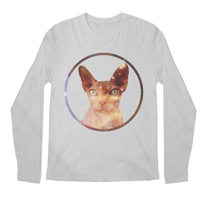 Cosmic Circle Sphynx Cat  Men's Longsleeve T-Shirt by radesigns's Artist Shop