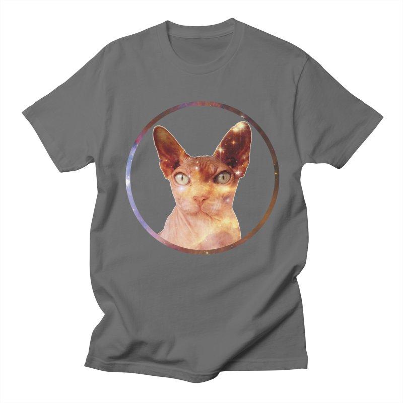 Cosmic Circle Sphynx Cat  Men's T-shirt by radesigns's Artist Shop