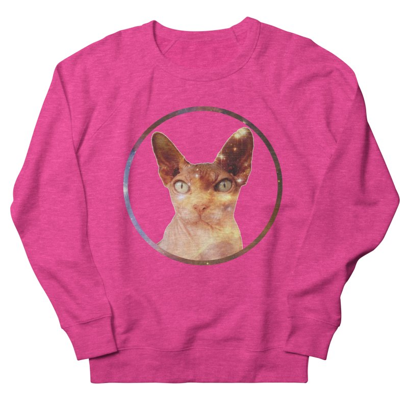 Cosmic Circle Sphynx Cat  Women's Sweatshirt by radesigns's Artist Shop