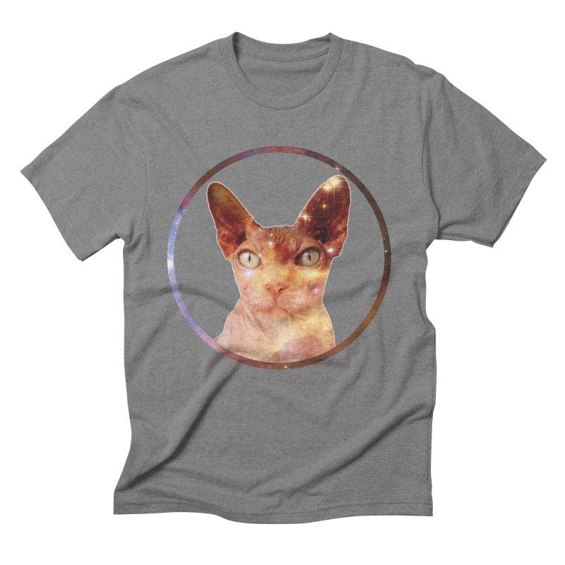 Cosmic Circle Sphynx Cat  Men's Triblend T-shirt by radesigns's Artist Shop