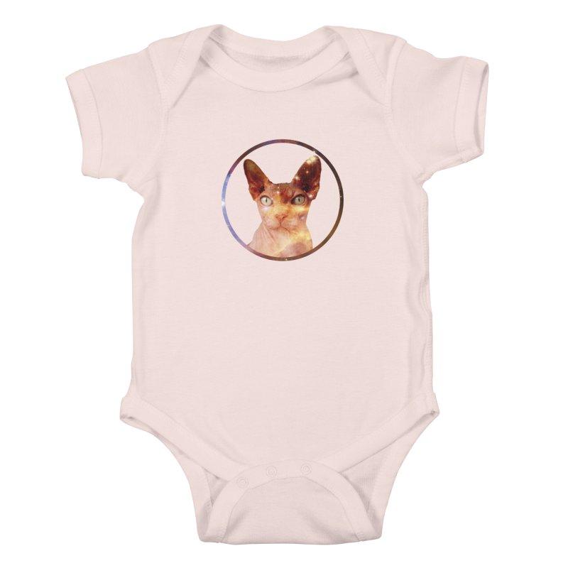 Cosmic Circle Sphynx Cat  Kids Baby Bodysuit by radesigns's Artist Shop