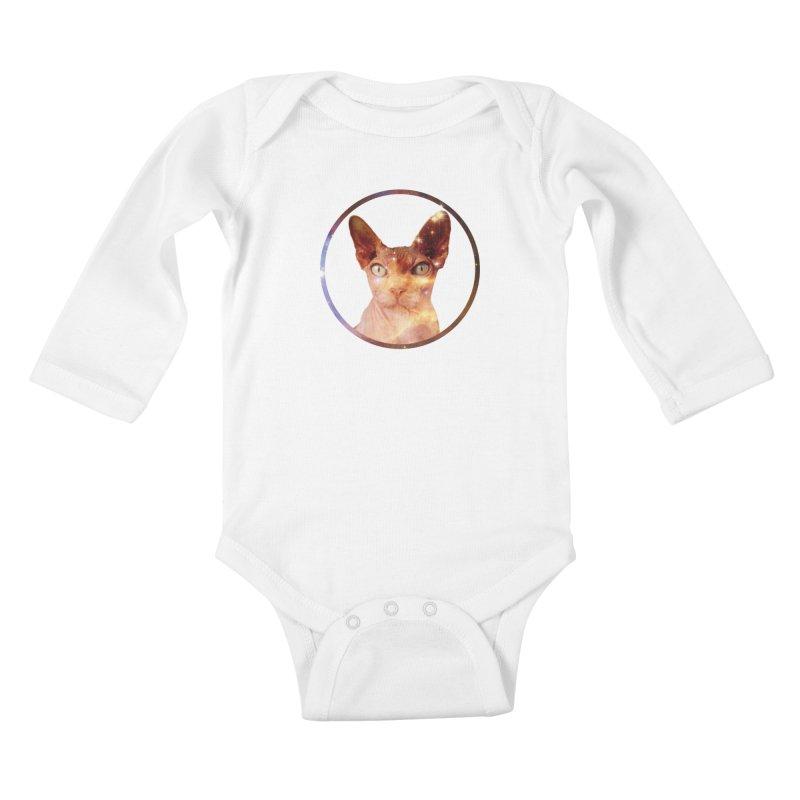 Cosmic Circle Sphynx Cat  Kids Baby Longsleeve Bodysuit by radesigns's Artist Shop