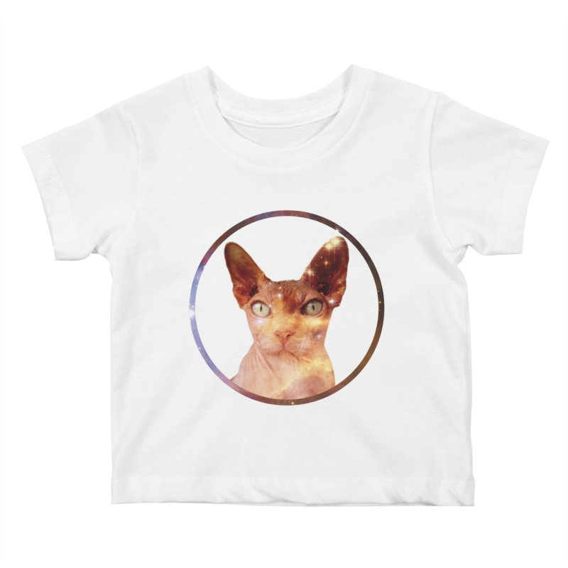 Cosmic Circle Sphynx Cat  Kids Baby T-Shirt by radesigns's Artist Shop