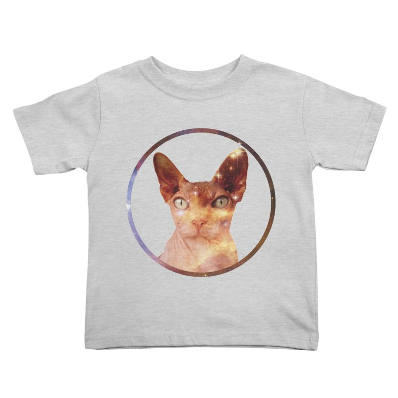 Cosmic Circle Sphynx Cat  Kids Toddler T-Shirt by radesigns's Artist Shop