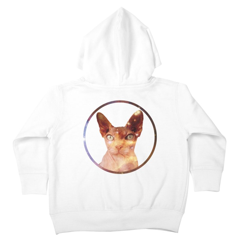 Cosmic Circle Sphynx Cat  Kids Toddler Zip-Up Hoody by radesigns's Artist Shop