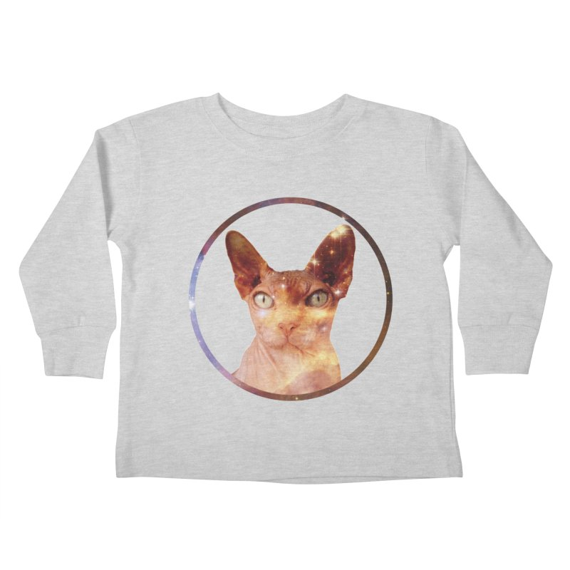 Cosmic Circle Sphynx Cat  Kids Toddler Longsleeve T-Shirt by radesigns's Artist Shop