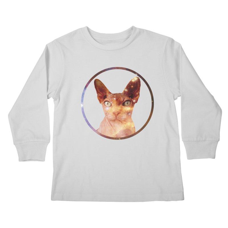 Cosmic Circle Sphynx Cat  Kids Longsleeve T-Shirt by radesigns's Artist Shop