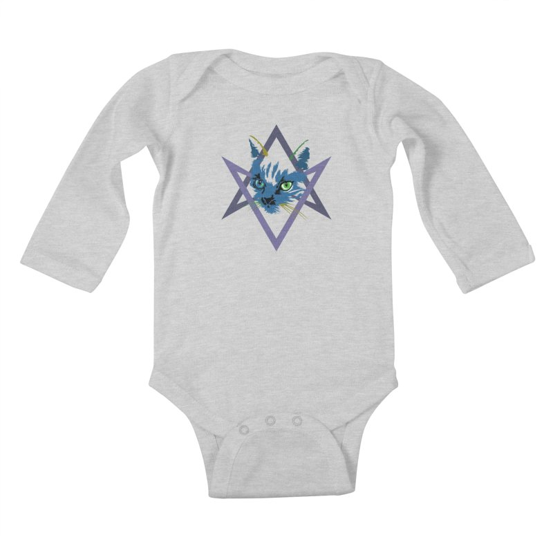 Cat is Love, Love Under Will Kids Baby Longsleeve Bodysuit by radesigns's Artist Shop
