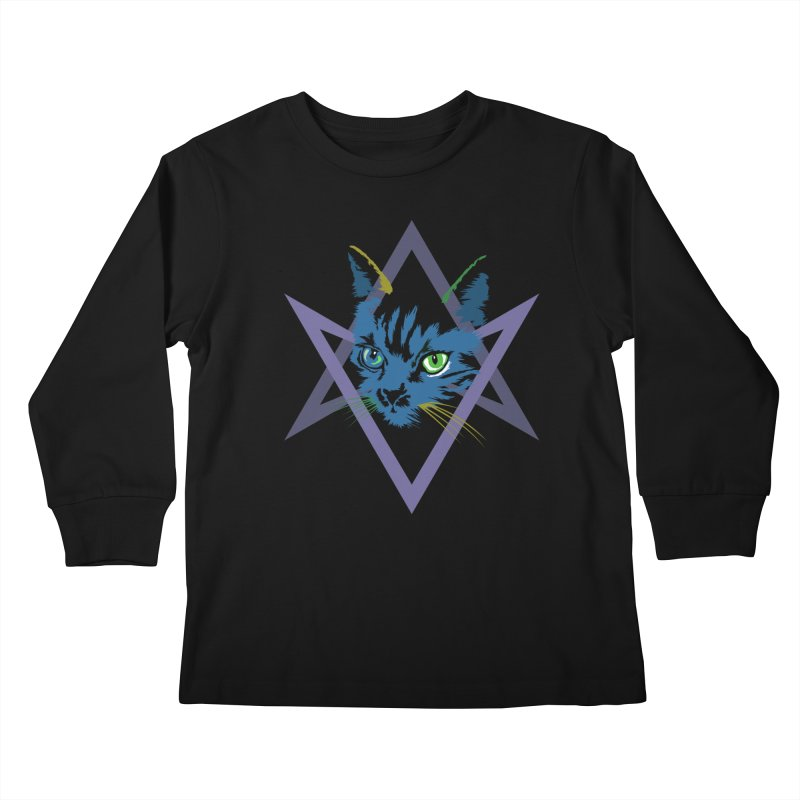 Cat is Love, Love Under Will Kids Longsleeve T-Shirt by radesigns's Artist Shop